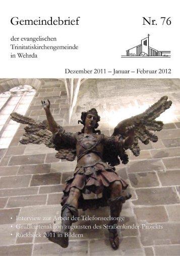 Nr. 76: Dezember 2011 - Januar - Februar 2012 - Evangelische ...