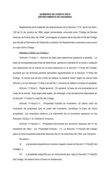 6118 - Departamento de Hacienda - Gobierno de Puerto Rico