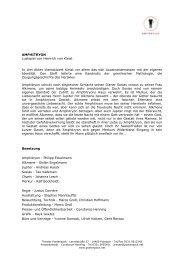 AMPHITRYON Lustspiel von Heinrich von Kleist In drei Akten ...