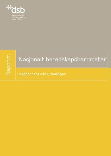 Nasjonalt beredskapsbarometer 2006 - Direktoratet for ...