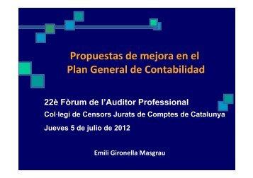 Mejoras contabilidad Pymes - Col·legi de Censors Jurats de ...