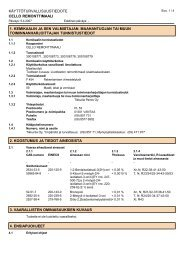 Material Safety Data Sheet - Cello