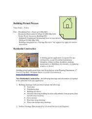 Building Permit Process - City of Charlottetown