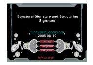Structural Signature and Structuring Signature - XCon - Xfocus.org