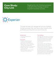 Case Study: City Link - Experian