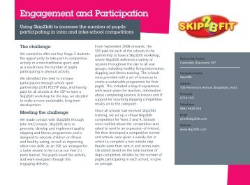 Engagement and Participation - Youth Sport Trust