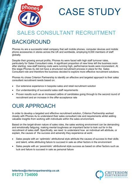 Sales recruitment - Criterion Partnership