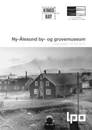 Ny-Ålesund by- og gruvemuseum - Sysselmannen