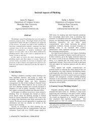 Societal Aspects of Phishing - Montclair State University