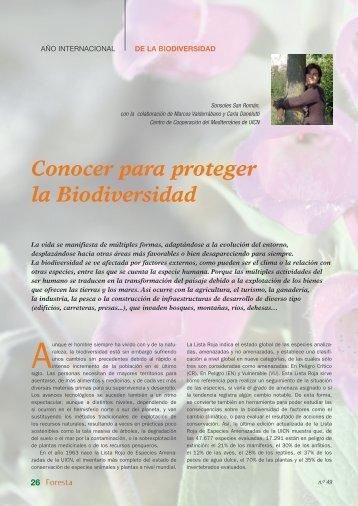 Conocer para proteger la Biodiversidad - redforesta