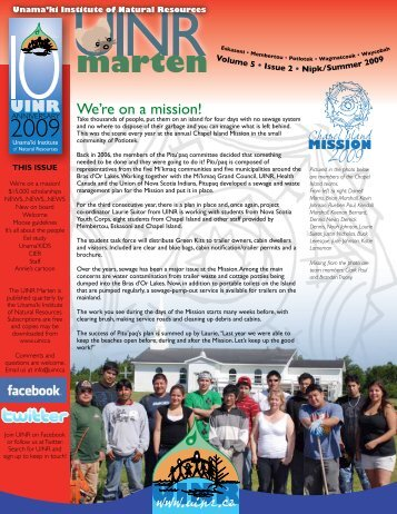 UINR Marten – Vol.5 Issue.2 – Summer 2009 - Unama'ki Institute of ...