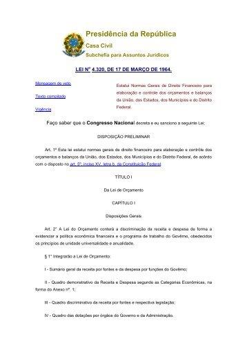 Lei 4320 64.docx - Conselho Nacional de Saúde