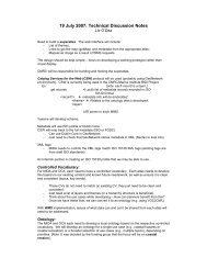 19 July 2007: Technical Discussion Notes