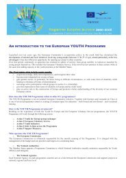 an introduction to the european youth programme - Injep