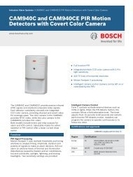 CAM940C and CAM940CE PIR Motion Detectors with Covert Color ...