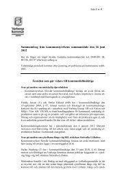 Sammandrag från kommunstyrelsens sammanträde den 26 juni ...