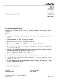 Årsregnskabsmeddelelse 2008/09 - Roblon A/S