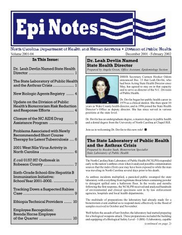 Epi Notes Vol 2001-04