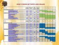 OYOF VIDEOS BY TOPIC AND GRADE - Own Your Own Future