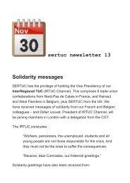 sertuc newsletter 13 Solidarity messages
