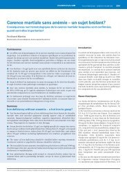 Carence martiale sans anémie - Swiss Medical Forum