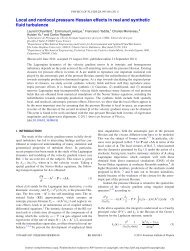 Local and nonlocal pressure Hessian effects in real and synthetic ...