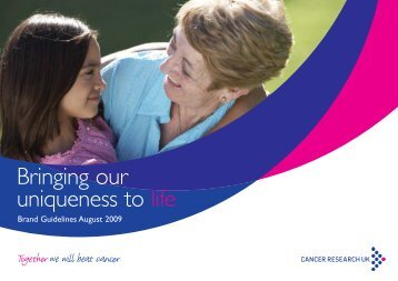 Bringing our uniqueness to life - Cancer Research UK