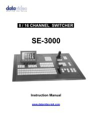 download datavideo se-3000-8 product manual - Go Electronic
