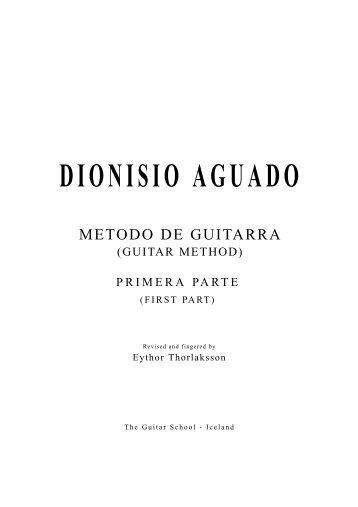 DIONISIO AGUADO - The Guitar School