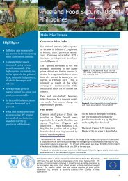 Price and Food Security Update - WFP Remote Access Secure ...