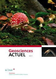 Geoscience ACTUEL 4/2011 - Platform Geosciences - SCNAT