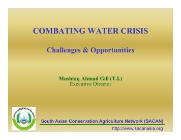 COMBATING WATER CRISIS Challenges & Opportunities