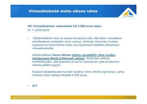 Kehken esitys - Kehittämiskeskus Oy Häme