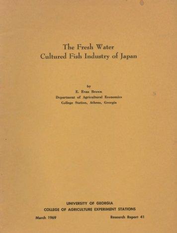 The Fresh Water Cultured Fish Industry of Japan ... - Runkebjerg.dk