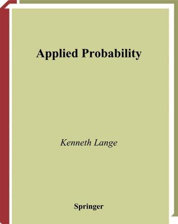 Applied Probability - Free