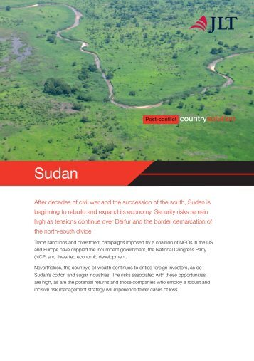 Post Conflict Country Solution for Sudan (PDF) - JLT