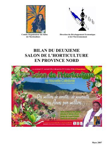 bilan du deuxieme salon de l'horticulture en province nord