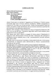 CURRICULUM VITAE Johann Antonio Facciorusso Nato a Pisa il 3 ...