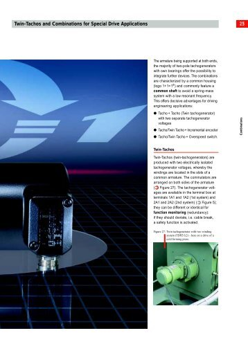 25 Twin-Tachos and Combinations for Special Drive Applications