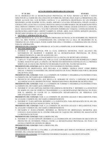 acta de sesión ordinaria de concejo nº 28 -2011 05-10-2011 en el ...