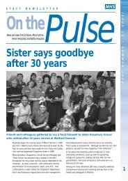 Sister says goodbye after 30 years - West Hertfordshire Hospitals ...