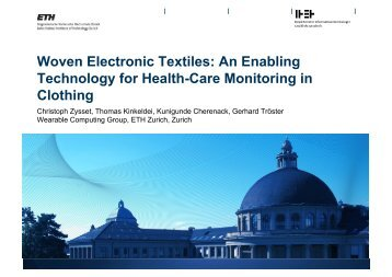 Woven Electronic Textiles: An Enabling Technology for ... - Create-Net