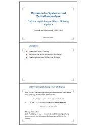 Dynamische Systeme und Zeitreihenanalyse