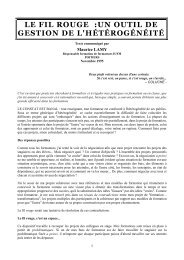 Le Fil rouge : un outil de gestion de l'hétérogénéité - SITE Patrick ...