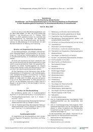 und Prüfungsbestimmungen in der Berufsausbildung im ... - BiBB