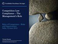 Competition Law Compliance - Borislav Boyanov & Co.