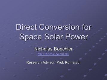Nicholas Boechler - NASA's Institute for Advanced Concepts