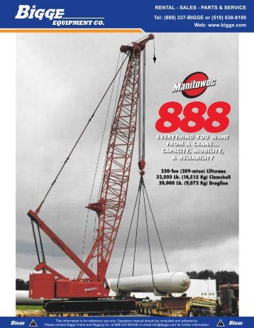 Manitowoc 888 Product Guide
