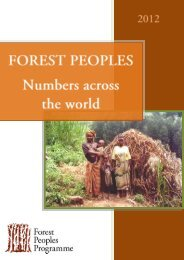 depend directly - Forest Peoples Programme