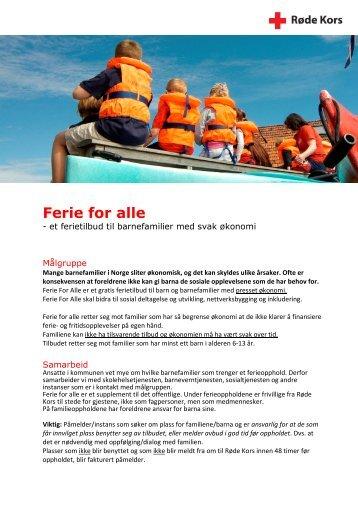 Ferie for alle - Røde Kors